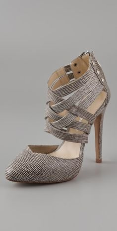 Rebecca Minkoff crisscross pumps - if only I had balls big enough to spend this much on shoes....
