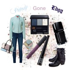 """""""Pastels gone Edgy"""" by pamela-heinbaugh ❤ liked on Polyvore"""