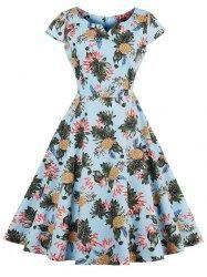 #AdoreWe #Gamiss Gamiss Pineapple Print Pin Up Dress - AdoreWe.com