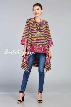 Batik Blazer, Blouse Batik, Batik Dress, Batik Fashion, Ethnic Fashion, African Fashion, Batik Kebaya, Pastel Designs, Sewing Blouses