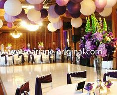 Blue And White Decorations wedding reception with royal blue and white. | decor: salon santa