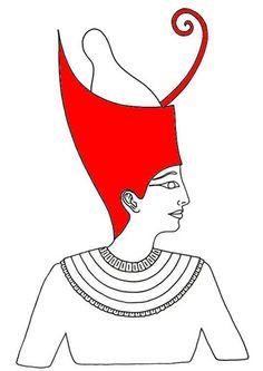 Pschent: O alto tocado empleado por los faraones egipcios; recogía la corona blanca y roja del alto y bajo Egipto.