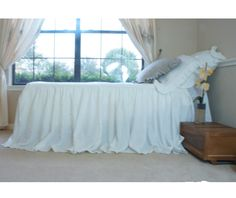 New to CustomLinensHandmade on Etsy: Linen Bedspread ruffle bedding linen bedding shabby chic bedding  bed cover queen bedspread king bedspread twin bedspread (237.00 USD)