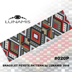 Peyote bracelet pattern even count peyote par LunamisBeadsPatterns