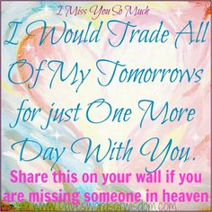 MISSING YOU!!! LOVE YOU!!!