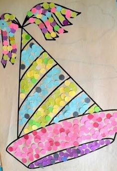 Confetti Mosaic New Year's hat! New Year's Crafts, Crafts For Kids, Arts And Crafts, New Years Activities, Art Activities, Theme Carnaval, New Years Hat, Circus Crafts, Classroom Crafts