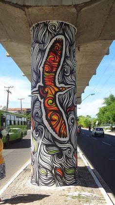 Street Art - Saná Costa - Teresina-PI-Brazil   Urban Street Art, Urban Art, Street Art Graffiti, Art Pop, Public Art, Amazing Art, Costa, Backgrounds, Street