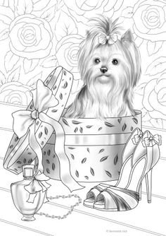Curious Dog - Printable Adult Coloring Pages from Favoreads This adult coloring page features a cute little dog who wants to have some fun. Get creative and release your inner child with this grayscale coloring sheet. Free Adult Coloring, Dog Coloring Page, Printable Adult Coloring Pages, Cute Coloring Pages, Animal Coloring Pages, Coloring Pages To Print, Coloring Pages For Kids, Coloring Sheets, Coloring Books