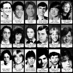 famous rock musicians when they were freshman in high school, funny because some look exactly the same today