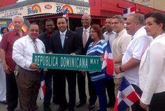 Rotulan avenida con el nombre de República Dominicana en Patterson