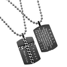 - Cross Symbol: Men's Religious Dog Tag. A Fantastic Way to Show Your Faith…