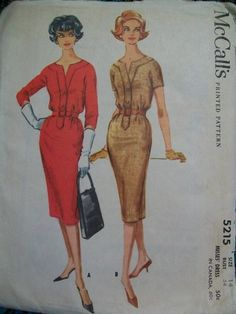 Vintage+1950's++McCalls+Dress+Pattern+Size+14+by+RRebelGrrl,+$14.00