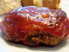 Glazed Mini Meatloaves - I think I have B convinced they will taste like meatballs.