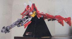 Neon Genesis Evangelion - Evangelion Unit-02 (Eva-02) Ver.4 Free Papercraft Download - http://www.papercraftsquare.com/neon-genesis-evangelion-evangelion-unit-02-eva-02-ver-4-free-papercraft-download.html