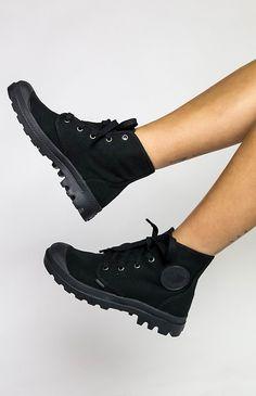 Palladium Pampa Hi Boot - Black/Black from pepeprmayo.com
