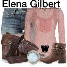 Inspired by Nina Dobrev as Elena Gilbert on The Vampire Dairies.