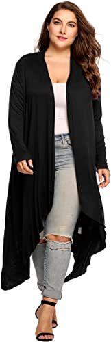 New Zeagoo Women's Plus Size Long Sleeve Waterfall Asymmetric Drape Open Front Long Maxi Cardigan Sweater L-5XL. plus size sweater dress ($25.99)findtopgoods Plus Size Sweater Dress, Plus Size Sweaters, Sweaters For Women, Maxi Cardigan, Plus Size Fashion For Women, Plus Size Outfits, Waterfall, Long Sleeve, Store