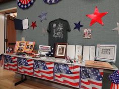I like this particular table - especially the Troop shirt on the wall.