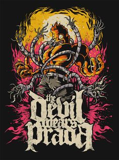 Refined work for American Metal band The Devil Wears Prada. Made this  piece way back April 2010.