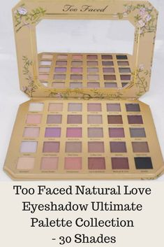 Too Faced Natural Love Eyeshadow Ultimate Palette Collection - 30 Shades for sale online Too Faced Natural Matte, Neutral Eyeshadow Palette, Boxes For Sale, Eye Shadow, Hair Beauty, Hair Accessories, Girly, Shades, Link