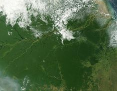 Imagem de satélite da região amazônica