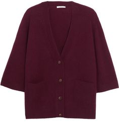 Beat the chilly weather and look fashionable with a black cardigan. Already preferred by both sexes, you know you are on the right track when you set it off Oversized Cardigan, Cashmere Cardigan, Oversized Tops, Burgundy Cardigan, Burgundy Top, Workout Tops, Chloe, Cardigans, Sweaters For Women