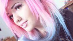 Pink and blue -mermaid hair