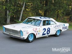"#28 Fred Lorenzen ""Lafayette Ford"" 1965 Ford Galaxie"