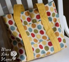 More Like Home: Day 13 - Favorite Tote Bag shows how to make fancy and plain gussets