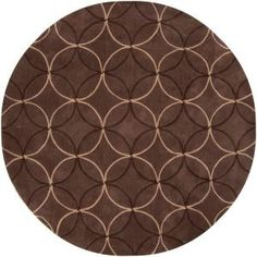 Artistic Weavers Meredith Brown 8 ft. Round Area Rug-MERE-8868 at The Home Depot