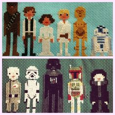 One of my favorite cross-stitch pieces - Star Wars - Empire and Rebellion.