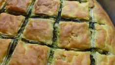 Greek Pastries, Greece Food, Greek Cooking, Spanakopita, Greek Recipes, Pie Dish, Healthy Cooking, Brunch, Dessert Recipes