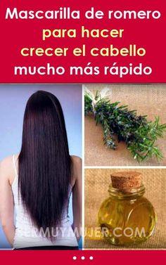 Mascarilla de romero para hacer crecer el cabello mucho más rápido Cabello Hair, Short Hair Styles Easy, Natural Shampoo, Body Care, Hair Cuts, Hair Color, Tips, Hair Treatments, Beauty