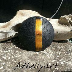 by Aurélie Daugas-Barathier owner Adhellyart Etsy shop.  Faux oeil de tigre - Polymer clay