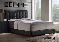 Modern+and+streamlined,+the+Lusso+Bed+brings+together+straightforward+shape+and+sleek+textures.+The+Lusso's+tufted,+rectangular+headboard+and+base+are+available+in+both+contemporary+black+or+white+faux+leathers.+Available+in+twin,+full,+queen.+Requires+a+mattress+and+box+spring.+Some+assembly+required.+Customer+assembly+Required.+Special+Order+–+No+Returns+allowed.