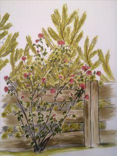 Mazurskie ogrodzenie, rys. mojego autorstwa