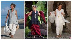 EVERYDAY SEW: ΣΥΝΟΛΟ BOHO Pants Tutorial, Diy Tops, Duster Coat, Cover Up, Boho, Sewing, Dresses, Tutorials, Fashion