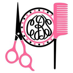 free Hairdresser Monogram  | Hairdresser Hair Salon Monogram Frame Svg Cuttable Designs.