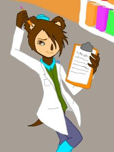 Shelly working in his lab again.