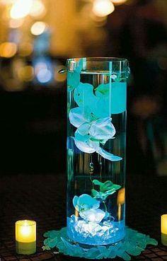 decoracion mesa de boda color agua marina - Buscar con Google