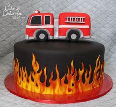 Cake for a firefighter , Firefighter Birthday Cakes, Fireman Birthday, Fireman Party, 3rd Birthday Cakes, Firefighter Grooms Cake, 50th Birthday, Fireman Sam Cake, Fire Cake, Fire Fighter Cake