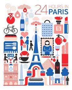 24 Hours in Paris | Fernando Volken Togni #Poster #Travel