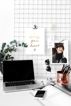 pretty desk inspiration (Jasmine Dowling)