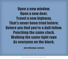 Open a new window open a new door