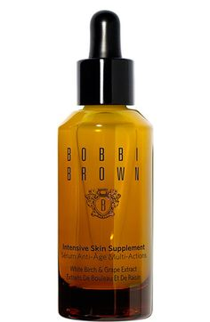 Bobbi Brown- Intensive skin supplement White Birch and Grape Extract  I use it on my hair+ skin. I love it, I put it on my hair when I plan on leaving it curly. I apply it before I comb it.