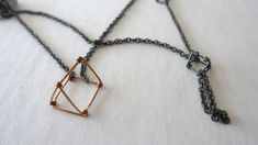 Kate Barton - 'Prism' Necklace, detail (sterling silver, 9ct gold)