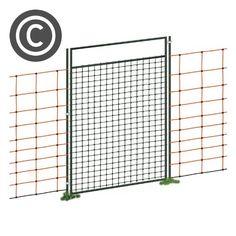 Tür für Netze, Weidezaun Netz Tür, für Netze über 95cm Höhe, 86cm Öffnungsbreite