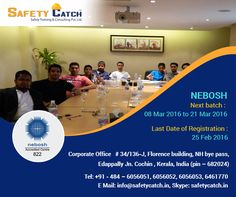 Learn how to manage risk #safely and effectively -  #NEBOSH #Occupational Health & Safety course on 8th March: http://bit.ly/NEBOSH_TrainingProgram