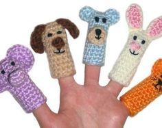 Pattern for crochet finger puppets on Etsy