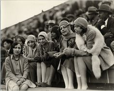 African American flappers at a football game